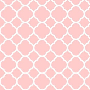 Light Pink Quatrefoil