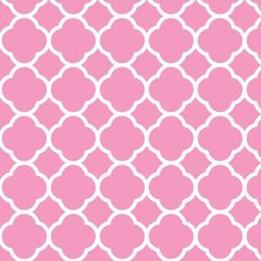 Bubblegum Pink Quatrefoil