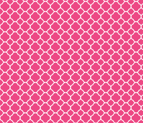 Hot Pink Quatrefoil