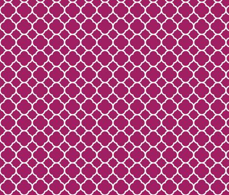 Berry Purple Quatrefoil