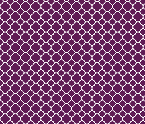 Plum Purple Quatrefoil fabric by sweetzoeshop on Spoonflower - custom fabric