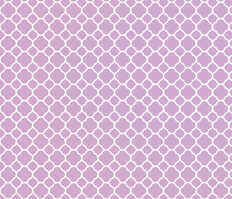 Lilac Purple Quatrefoil