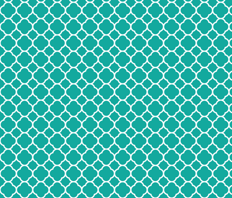 Teal Quatrefoil fabric by sweetzoeshop on Spoonflower - custom fabric