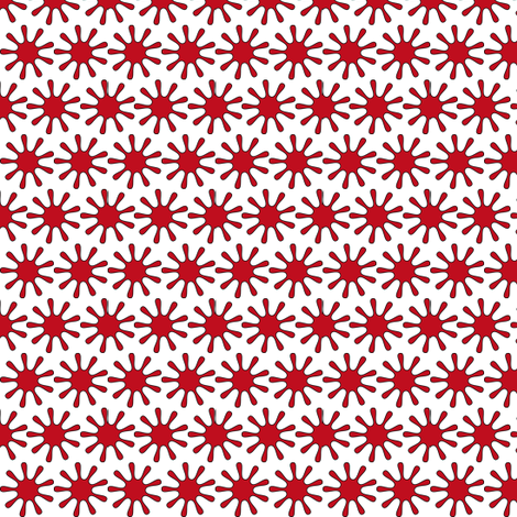 Red Splats Ditsy - White - Tiny fabric by telden on Spoonflower - custom fabric