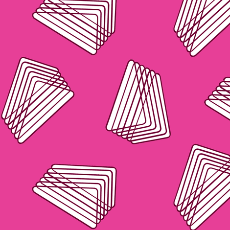 Floating Stacked Triangles - Pink fabric by telden on Spoonflower - custom fabric