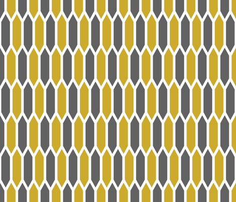 Gold and Charcoal fabric by sweetzoeshop on Spoonflower - custom fabric