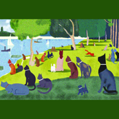 """Seurat's Cats"" Yardage"