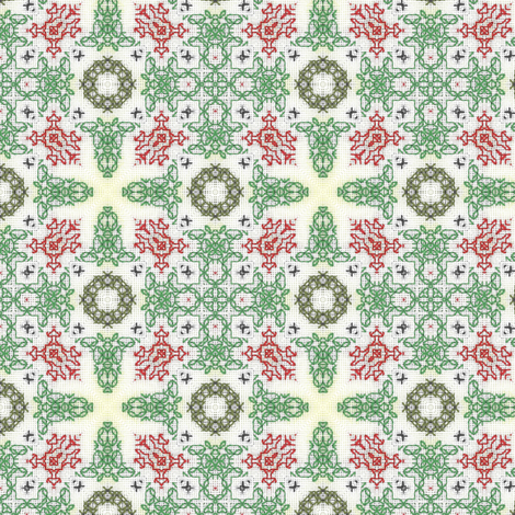 Bells & Wreaths fabric by stitchinspiration on Spoonflower - custom fabric