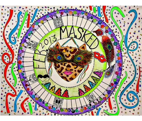 Mardi Gras Masked Partytime fabric by 3montanachicks on Spoonflower - custom fabric