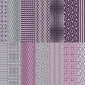 Lavender Garden Stitched Sampler 3