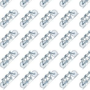Small Navy Tandem - Close Bias Print