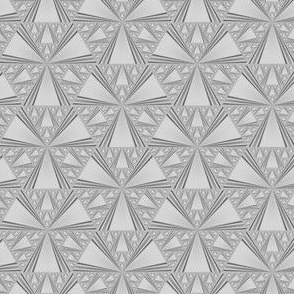 Tone on Tone Grey Triangles  Gingezel 2013