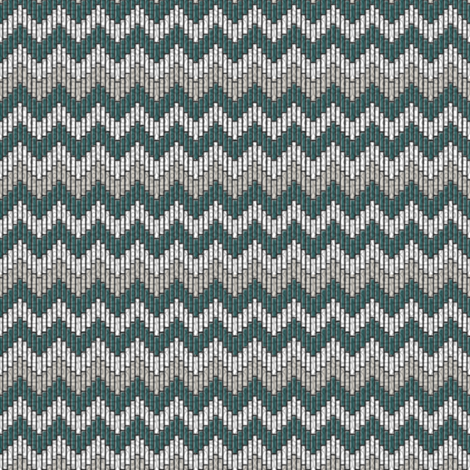 inuit chevron teal fabric by glimmericks on Spoonflower - custom fabric