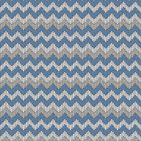 inuit chevron ice fabric by glimmericks on Spoonflower - custom fabric