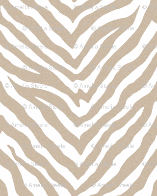 Zebra in Linen and White