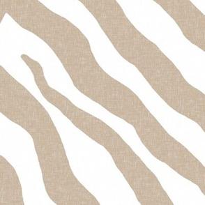 Zebra in Linen and White
