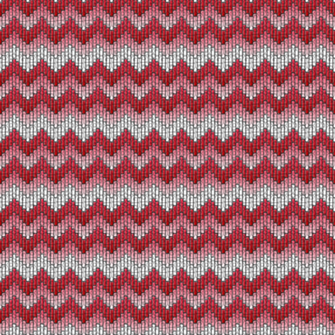 inuit chevron raspberry fabric by glimmericks on Spoonflower - custom fabric