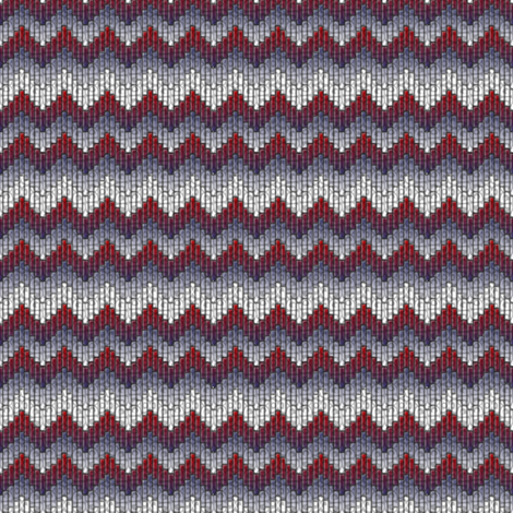 inuit chevron america fabric by glimmericks on Spoonflower - custom fabric