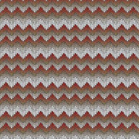 inuit chevron flames fabric by glimmericks on Spoonflower - custom fabric