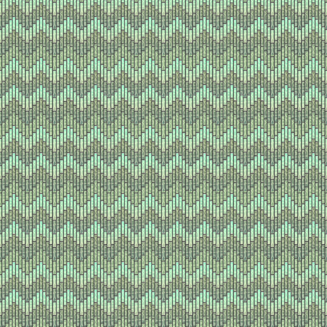 inuit chevron celadon fabric by glimmericks on Spoonflower - custom fabric