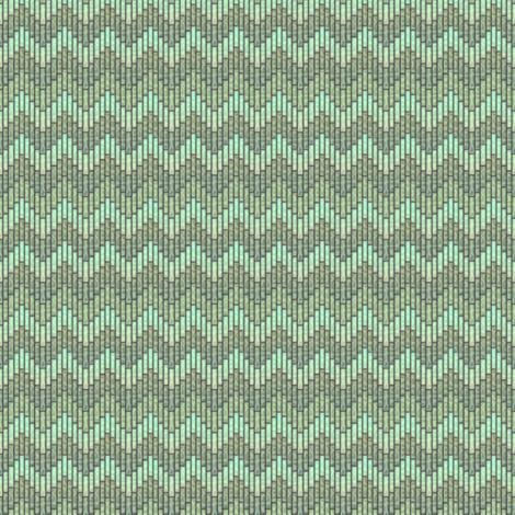 inuit chevron celadon fabric by glimmericks on Spoonflower - custom fabric