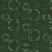 Vine pattern - small {in green}