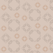 Vine pattern - small {light brown}