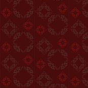 Vine pattern - small {in red}