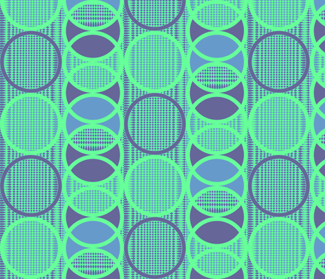 Circling Around - blue green fabric by glimmericks on Spoonflower - custom fabric