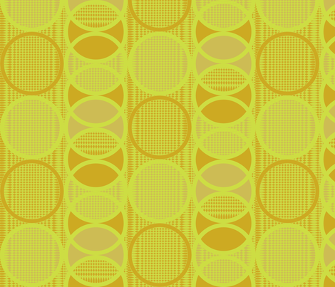 Circling Around - mustard solar fabric by glimmericks on Spoonflower - custom fabric