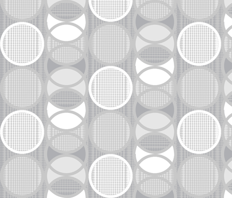 Circling Around - grayscale fabric by glimmericks on Spoonflower - custom fabric