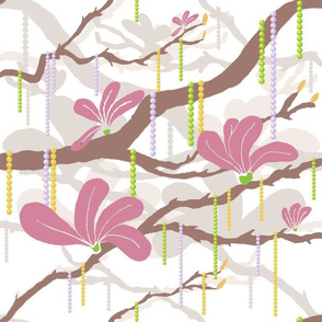 Mardi Magnolia Beads