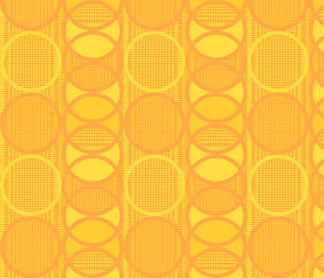 Circling_around_orangejuice fabric by glimmericks on Spoonflower - custom fabric