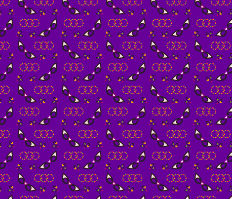 Mardi Gras Love fabric by tortagialla on Spoonflower - custom fabric