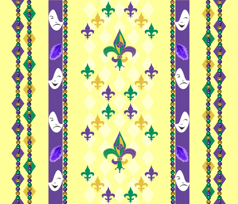 Mardi_Gras_stripe fabric by bosun on Spoonflower - custom fabric