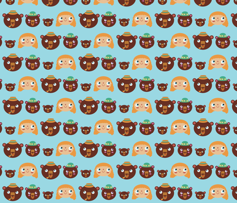 The characters fabric by heidikenney on Spoonflower - custom fabric