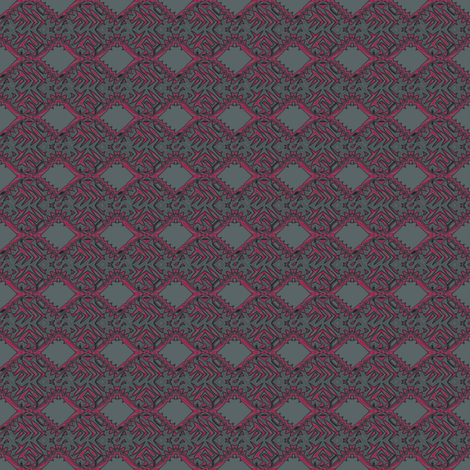 Red and Grey Techie Geometric © Gingezel™2014
