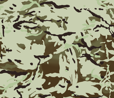 British Multicam Multi Terrain Pattern 'MTP' Desert Variation Camo fabric by ricraynor on Spoonflower - custom fabric