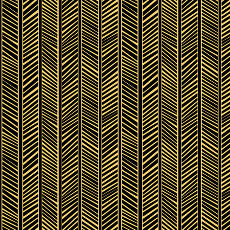 Golden Chevrons fabric by pond_ripple on Spoonflower - custom fabric