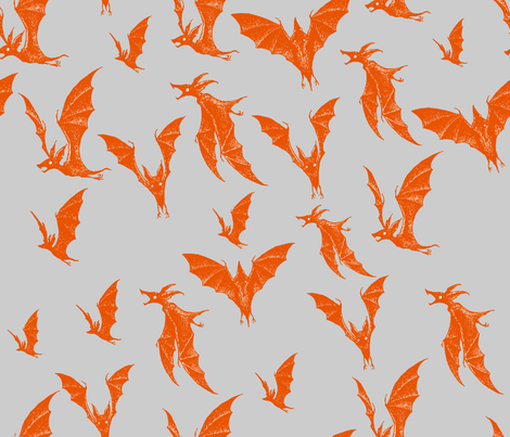 Night Hunters - pumpkin fabric by thecalvarium on Spoonflower - custom fabric