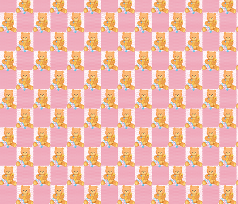 pink_bears fabric by patti_ on Spoonflower - custom fabric