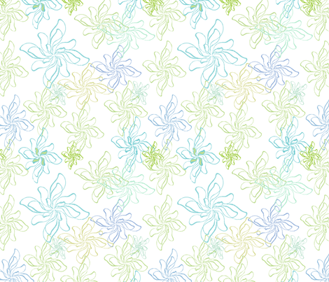 FlowerPrintTwistCool fabric by roxanne_lasky on Spoonflower - custom fabric