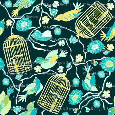 Garden Escape Teal