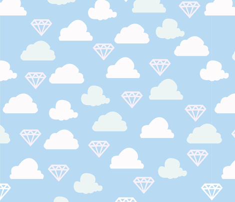 The sky is full of diamonds fabric by jessysantos on Spoonflower - custom fabric