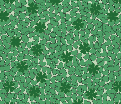 Clovers fabric by jessysantos on Spoonflower - custom fabric
