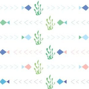 Geo fish with seaweed