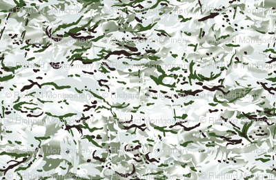 British Multicam Multi Terrain Pattern 'MTP' Snow Variation Camo