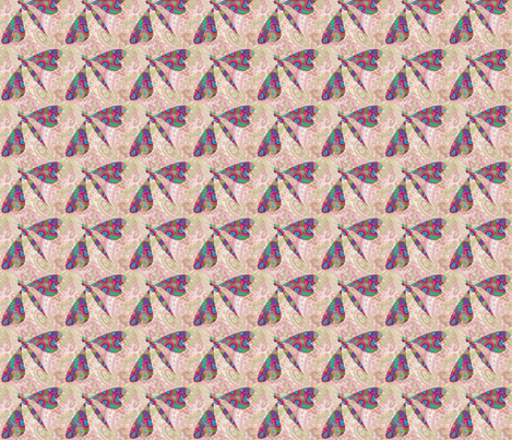 paisley dragonfly fabric by krs_expressions on Spoonflower - custom fabric