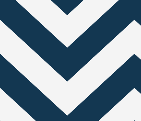 Large scale Navy and White Chevron  fabric by sparrowsong on Spoonflower - custom fabric
