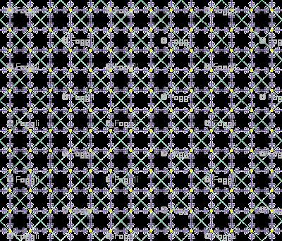 Fleur de lis in tiles